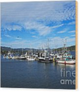 Government Wharf In Sooke Harbour Wood Print