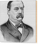 Governor Grover Cleveland - Twenty Second President Of The Usa Wood Print by International  Images
