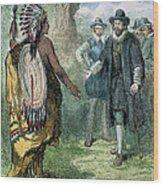 Governor John Winthrop Wood Print