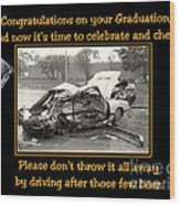 Graduation Card Wood Print