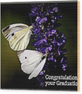 Graduation Congratulations Wood Print