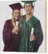 Graduation Couple Iv Wood Print