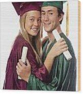 Graduation Couple Wood Print
