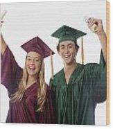 Graduation Couple V Wood Print