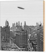 Graf Zeppelin Over Chicago Wood Print