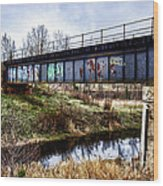 Graffiti Bridge Wood Print