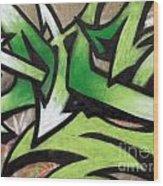 Graffiti Painting Wood Print