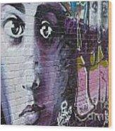 Graffiti Permission Wall Wood Print
