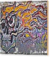 Graffiti Skull Wood Print