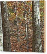 Graffiti Trees Wood Print
