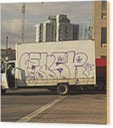 Graffiti Truck Wood Print