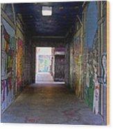 Graffiti Walkway Wood Print