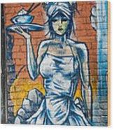 Grafitti Wall Wood Print