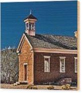 Grafton Schoolhouse Wood Print