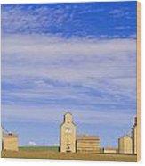 Grain Elevators, Mossleigh, Alberta Wood Print