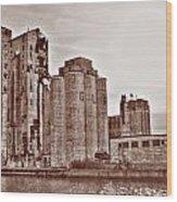 Grain Elevators St Wood Print
