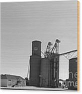 Grain Processing Facility In Shirley Illinois 2 Wood Print