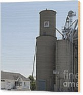 Grain Processing Facility In Shirley Illinois 3 Wood Print
