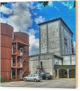 Grain Tower Apartments Wood Print
