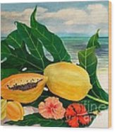 Grand Anse Still Life Wood Print
