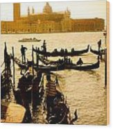 Grand Canal At Sunset - Venice Wood Print