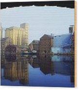 Grand Canal, Dublin, Co Dublin, Ireland Wood Print