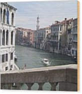 Grand Canal From A Bridge Wood Print