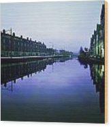 Grand Canal, Portobello, Dublin, Co Wood Print