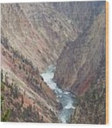 Grand Canyon At Yellowstone Wood Print