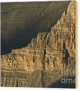 Grand Canyon Bathed In Light Wood Print