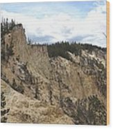 Grand Canyon Cliff In Yellowstone Wood Print