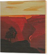 Grand Canyon Contemporary 1 Wood Print