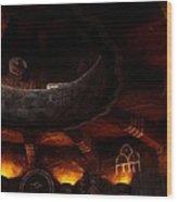 Grand Canyon Desert View Watchtower - Greeting Card Wood Print