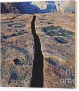 Grand Canyon Dividing Line Wood Print
