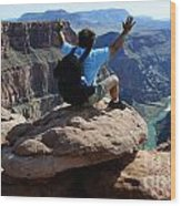 Grand Canyon Feeling All Right Wood Print