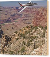 Grand Canyon Fly By-1 Wood Print
