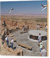 Grand Canyon Fly By-2 Wood Print
