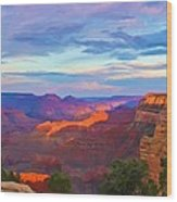 Grand Canyon Grand Sky Wood Print