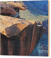 Grand Canyon Into Space Wood Print