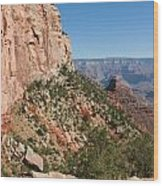 Grand Canyon National Park Bright Angel Loop Arizona Usa Wood Print