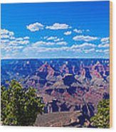 Grand Canyon Panorama White Wood Print