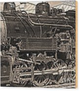 Grand Canyon Railroad Locomotive Wood Print