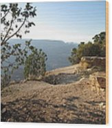 Grand Canyon Rim View Wood Print