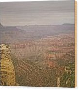 Grand Canyon Scenic Overlook View Wood Print