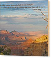 Grand Canyon Splendor - With Quote Wood Print