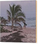 Grand Cayman Surfer Wood Print