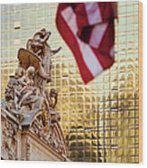 Grand Central Flag Wood Print