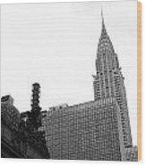 Grand Central-grand Hyatt-chrysler Wood Print