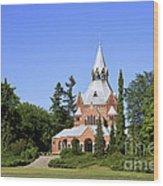 Grand Chapel In Central Cemetery Szczecin Poland Wood Print