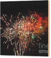 Grand Haven Mi Fireworks Wood Print